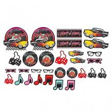 1950's Rock & Roll Party Cutout Decoration Set