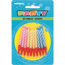 Birthday Party Striped Cake Candles | Decorations