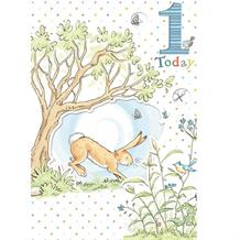 Guess How Much I Love You 1st Birthday Boy Greeting Card
