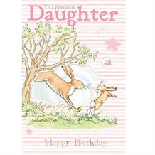 Guess How Much I Love You Happy Birthday Daughter Greeting Card
