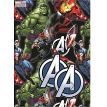 Marvel Avengers Gift Wrap -  2 Sheets, 2 Gift Tags