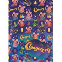 Clangers Gift Wrap -  2 Sheets, 2 Gift Tags