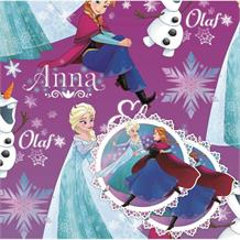 Disney Frozen | Anna | Elsa | Olaf Gift Wrap -  2 Sheets, 2 Gift Tags