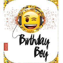 Emoji Birthday Boy Greeting Card