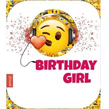 Emoji Birthday Girl Greeting Card