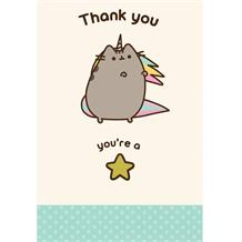 Pusheen Thank You You're a Star Greeting Card