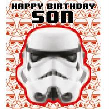 Stormtrooper | Star Wars Son Happy Birthday Greeting Card