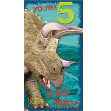 Dinosaur | Natural History Museum 5th Birthday Triceratops Greeting Card