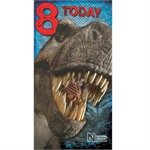 Dinosaur | Natural History Museum T-Rex 8th Birthday Greeting Card