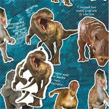 Dinosaur | National History Museum Gift Wrap -  2 Sheets, 2 Gift Tags