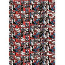 Spiderman Gift Wrap -  2 Sheets, 2 Gift Tags