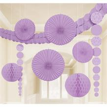 Lilac Wedding Party Decoration Kit | Garland | Tissue Fans