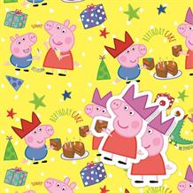 Peppa Pig Gift Wrap -  2 Sheets, 2 Gift Tags