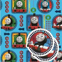 Thomas and Friends Gift Wrap -  2 Sheets, 2 Gift Tags