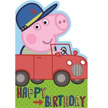 Peppa Pig George Happy Birthday Car Greeting Card