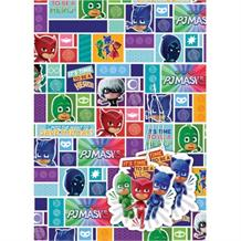 PJ Masks Gift Wrap -  2 Sheets, 2 Gift Tags