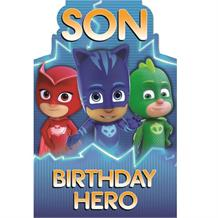 PJ Masks Son Birthday Hero Greeting Card
