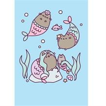 Pusheen Glittered Mermaid Blank Greeting Card