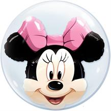 "Minnie Mouse 22"" Qualatex Double Bubble Party Balloon"