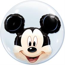 "Mickey Mouse 22"" Qualatex Double Bubble Party Balloon"