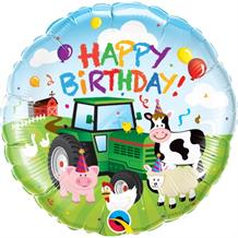 "Farm Animals Happy Birthday 18"" Foil 