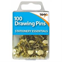 Brass Drawing Pins x 100