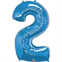 "Qualatex Blue 34"" Number 2 Supershape Foil 
