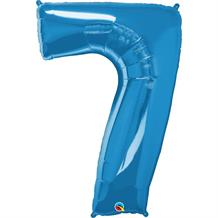 "Qualatex Blue 34"" Number 7 Supershape Foil 