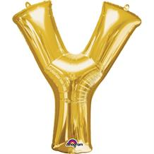"Anagram Gold 34"" Letter Y Supershape Foil 
