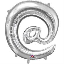 "Anagram Silver 34"" @ Symbol Supershape Foil 