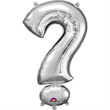 "Anagram Silver 34"" ? Question Mark Symbol Supershape Foil 