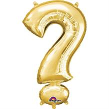 "Anagram Gold 34"" ? Question Mark Symbol Supershape Foil 