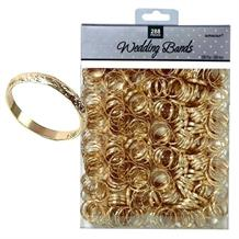 Gold Band Wedding Favours Table Decorations