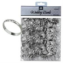 Silver Band Wedding Favours Table Decorations