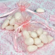 Pink Wedding Organza Favour Bags