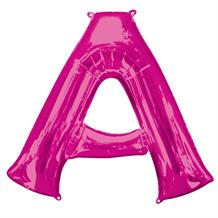 "Anagram Pink 34"" Letter A Supershape Foil 
