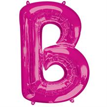 "Anagram Pink 34"" Letter B Supershape Foil 