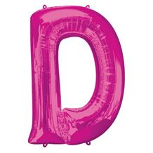 "Anagram Pink 34"" Letter D Supershape Foil 