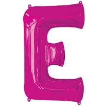 "Anagram Pink 34"" Letter E Supershape Foil 