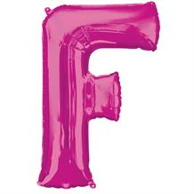 "Anagram Pink 34"" Letter F Supershape Foil 