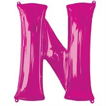 "Anagram Pink 34"" Letter N Supershape Foil 