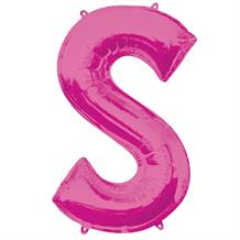 "Anagram Pink 34"" Letter S Supershape Foil 
