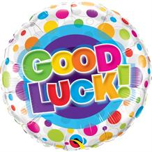 "Good Luck Colourful Dots 18"" Foil 