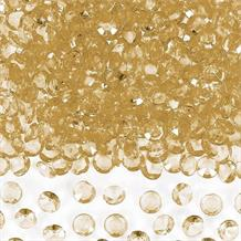 Gold Clear Gem Wedding Table Confetti | Decoration