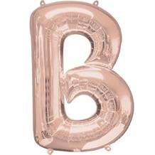 "Anagram 16"" Rose Gold Letter B Foil Balloon"
