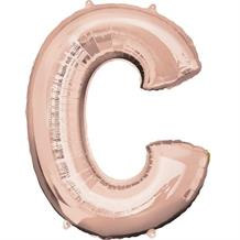 "Anagram 16"" Rose Gold Letter C Foil Balloon"
