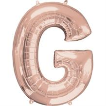 "Anagram 16"" Rose Gold Letter G Foil Balloon"