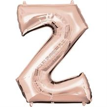 "Anagram 16"" Rose Gold Letter Z Foil Balloon"