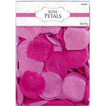 Bright Pink Fabric Rose Petal Confetti | Decoration