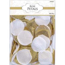 Gold & White Fabric Rose Petal Confetti | Decoration